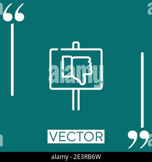 protest vector icon Linear icon. Editable stroked line - Stock Photo