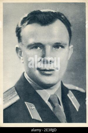 Yuri Alekseyevich Gagarin (9 March 1934 – 27 March 1968) was a Soviet Air Forces pilot and cosmonaut. Stock Photo