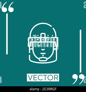 riot police vector icon Linear icon. Editable stroke line - Stock Photo