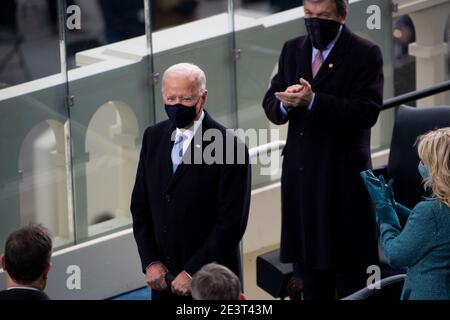 Washington, DC. 20th Jan, 2021.Washington DC, USA. 20th Jan 2021.UNITED STATES - January 20: President-elect Joe Biden arrives to the West Front of the Capitol for his Inauguration as the 46th President of the United States on Wednesday, Jan. 20, 2021. Credit: dpa picture alliance/Alamy Live News Credit: dpa picture alliance/Alamy Live News