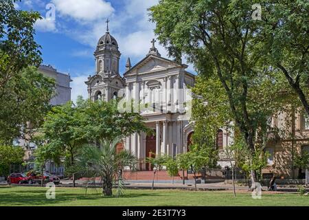 Cathedral of Salto, Roman Catholic church dedicated to saint John the Baptist at the Plaza Artigas in the city Salto, northwestern Uruguay