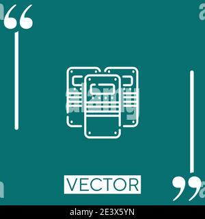 riot police vector icon Linear icon. Editable stroked line - Stock Photo