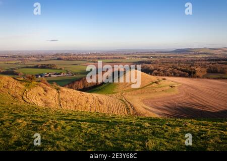 Looking out from Cley Hill across Warminster, Wiltshire