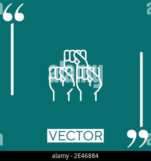 protest vector icon Linear icon. Editable stroke line - Stock Photo