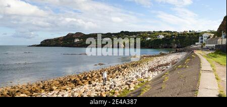 View of a suburb, Howth, Dublin Bay, Dublin, Leinster Province, Republic of Ireland - Stock Photo