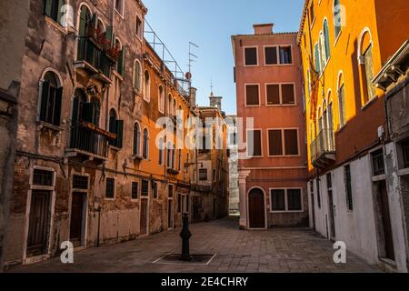 Venice during Corona times without tourists, Cannaregio