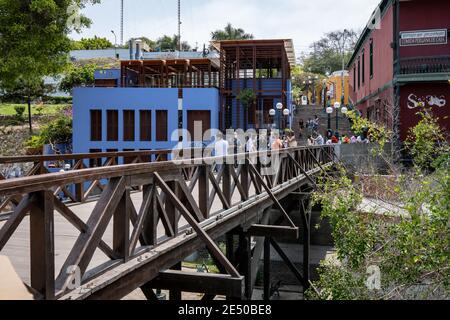 Bridge of Sighs (Puente de los Suspiros) in the Bohemian district of Barranco in Lima, Peru