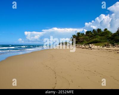 A beach near Sosua, on the north coast of the Dominican Republic.