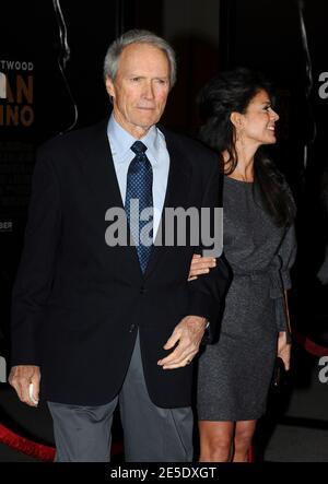 Director/cast member Clint Eastwood and wife Dana Ruiz attend the world premiere of his film 'Grand Torino' at the Steven J. Ross Theater at the Warner Bros. Studios in Burbank, Los Angeles, CA, USA on December 9, 2008. Photo by Lionel Hahn/ABACAPRESS.COM