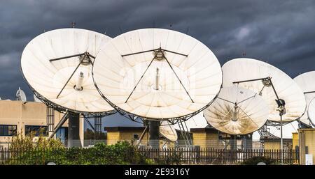 satellite dishes or radio antennas
