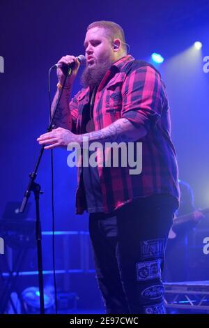 Rag'n'Bone Man aka Rory Graham performing at Wychwood Festival, Cheltenham, UK. July 4, 2016 - Stock Photo