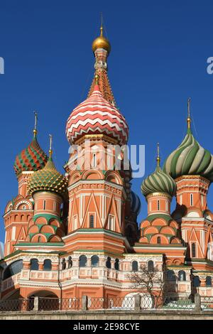 Cathedral of Vasily Blessed (Saint Basil's Cathedral) 1555-1561, fragment. Moscow, Russia Stock Photo
