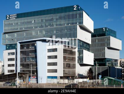 Advance Business Center or Centre new modern office building by GTC Group in the Sofia Business Park in Sofia Bulgaria Europe EU as of January 2021