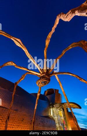 Sculpture ''Mama'' in the Guggenheim Museum in Bilbao, Bizkaia, Basque Country, Spain, Europe.