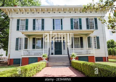 Alabama Montgomery First White House of the Confederacy,Civil War 1835 Italianate style outside exterior front entrance,