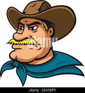 American cowboy or sheriff in cartoon style
