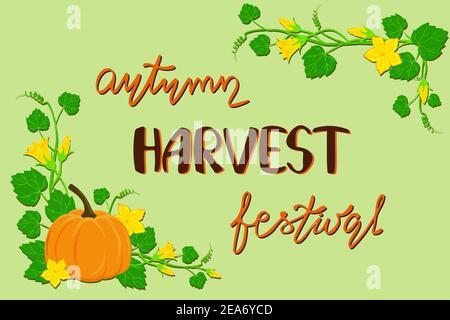 Autumn harvest festival poster Stock Photo