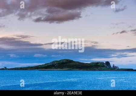 Irelands Eye island, view from Howth. Howth, County Dublin, Ireland, Europe
