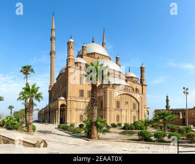 The great Mosque of Muhammad Ali Pasha in Cairo Egypt