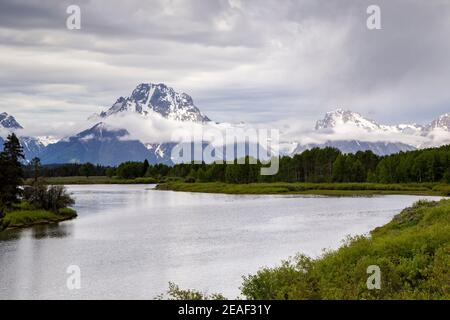 Mount Moran from Oxbow Bend in Grand Teton National Park