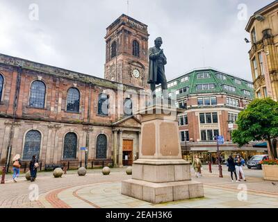 Richard Cobden Statue in St Anns Square, Manchester city centre