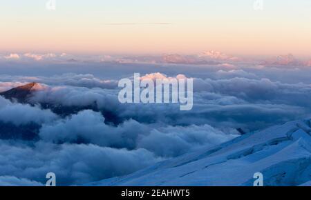 Alpine landscape view from Monte Rosa