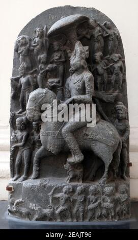 Revanta, from 11th century found in Basalt, Bihar now exposed in the Indian Museum in Kolkata, West Bengal, India