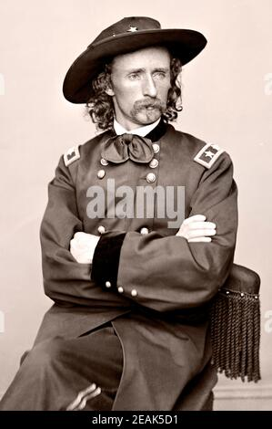 George Armstrong Custer (1839 – 1876) was a United States Army officer and cavalry commander in the American Civil War and the American Indian Wars.