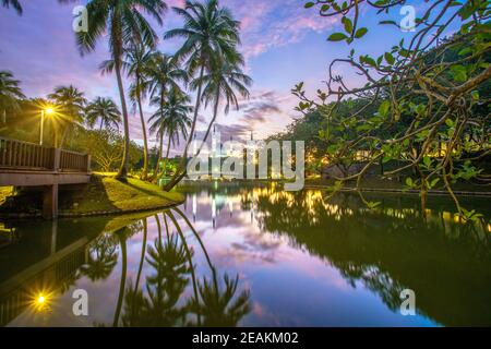 A scenic view of Shah Alam, the capital city of Selangor. Stock Photo