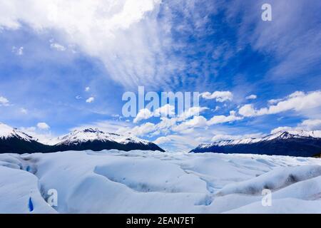 Walking on Perito Moreno glacier Patagonia, Argentina Stock Photo