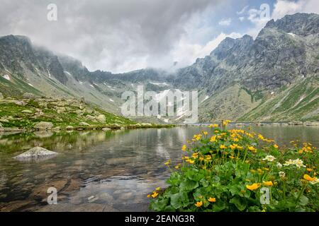 View of beautiful mountains in High Tatras. - Stock Photo