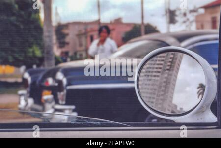 Cuba 1979, Havana old car detail
