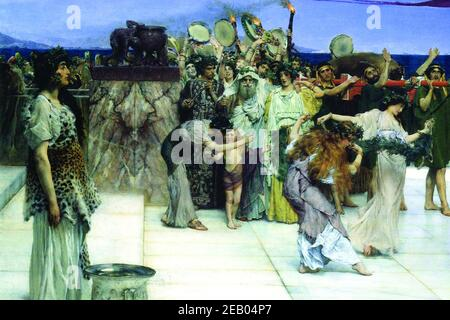 Consecration of Bacchus, detail [1]  1870 - Stock Photo