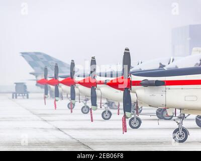 Croatian Pilatus PC-9 of Krila oluje Wings of storm aerobatic group - Stock Photo