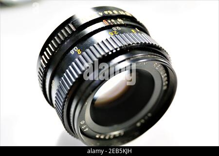 film, camera, strip, cinema, white, movie, background, isolated, reel, digital, negative, blank, retro, frame, filmstrip, equipment, picture, entertai - Stock Photo