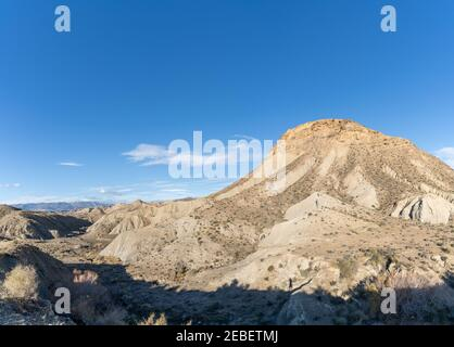 A view of the Tabernas desert in Andalusia