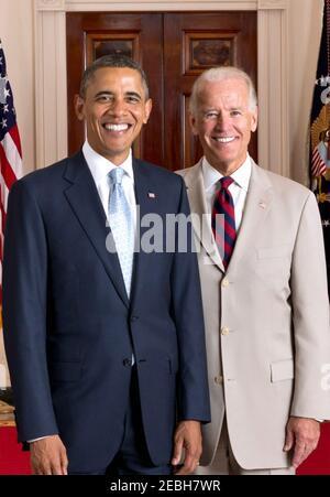 US PRESIDENT BARACK OBAMA and Vice-President Joseph Biden. Officlal White House photo 26 July 2012