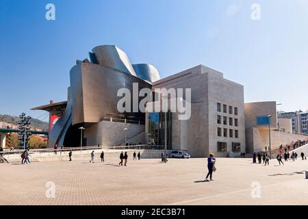 Europe, Spain, Basque Country, Bilbao Guggenheim Museum Bilbao - Stock Photo