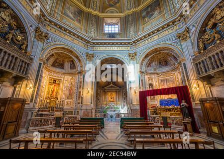 Church of Santa Maria di Loreto near Venezia Square in Rome, Italy. Stock Photo