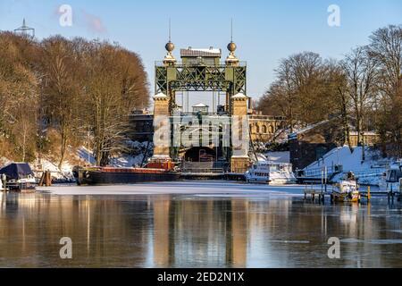Das alte Schiffshebewerk Henrichenburg am Dortmund-Ems-Kanal in Waltrop, Nordrhein-Westfalen, Deutschland, Europa | Historic Henrichenburg boat lift i