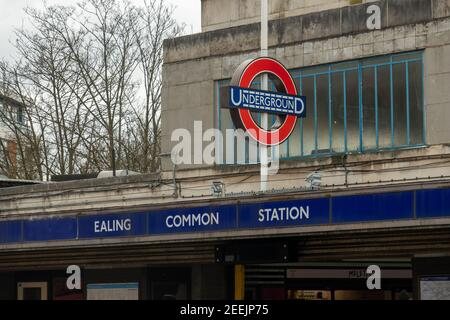 London-  Ealing Common underground station in West London