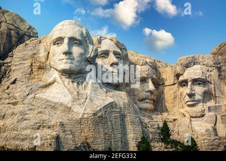 Portrait of Abraham Lincoln on Mount Rushmore, South Dakota