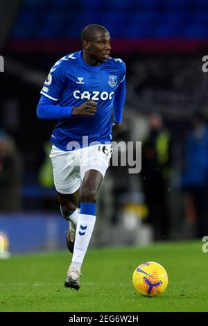 Liverpool, United Kingdom, 17th February 2021. Everton's Abdoulaye Doucoure. Credit: Anthony Devlin/Alamy Live News