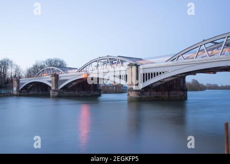 Barnes Railway Bridge Stock Photo