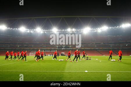 Soccer Football - Europa League - Ostersunds FK Training - Emirates Stadium, London, Britain - February 21, 2018   General view during Ostersunds training   Action Images via Reuters/Peter Cziborra - Stock Photo