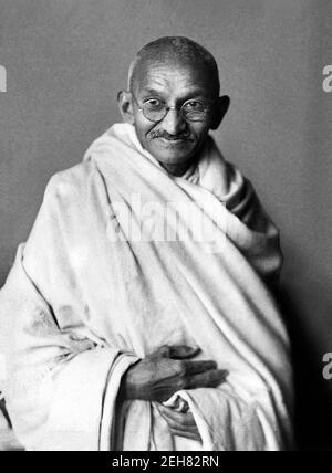 Mahatma Gandhi. Portrait of Mohandas Karamchand Gandhi (1869-1948), widely known as Mahatma Gandhi. Photo taken in 1931
