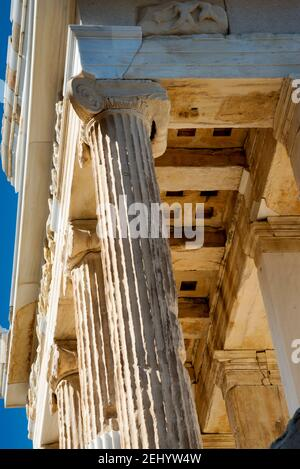 Details of the Temple of Athena Nike at the Athenian Acropolis in Greece. - Stock Photo