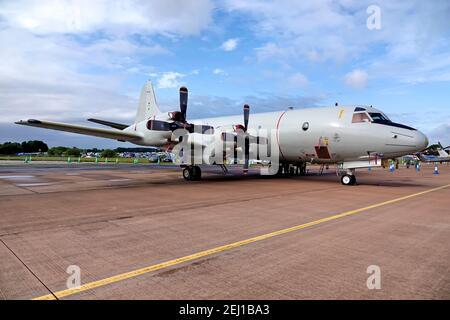 RAF Fairford,Gloucestershire / UK - July 20 2019: A German Navy (Deutsche Marine), Lockheed P-3C Orion CUP Maritime Patrol Aircraft (MPA), 60+01,MFG 3 - Stock Photo