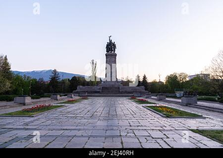 Monument to the Soviet army in Sofia, Bulgaria Stock Photo
