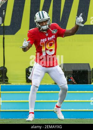 January 27, 2019: AFC return specialist Andre Roberts (19), of the New York Jets, during the NFL Pro Bowl football game between the AFC and the NFC at Camping World Stadium in Orlando, Florida. Del Mecum/CSM/Sipa USA (Credit Image: © Del Mecum/CSM/Sipa USA)